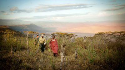 Walking with Masai