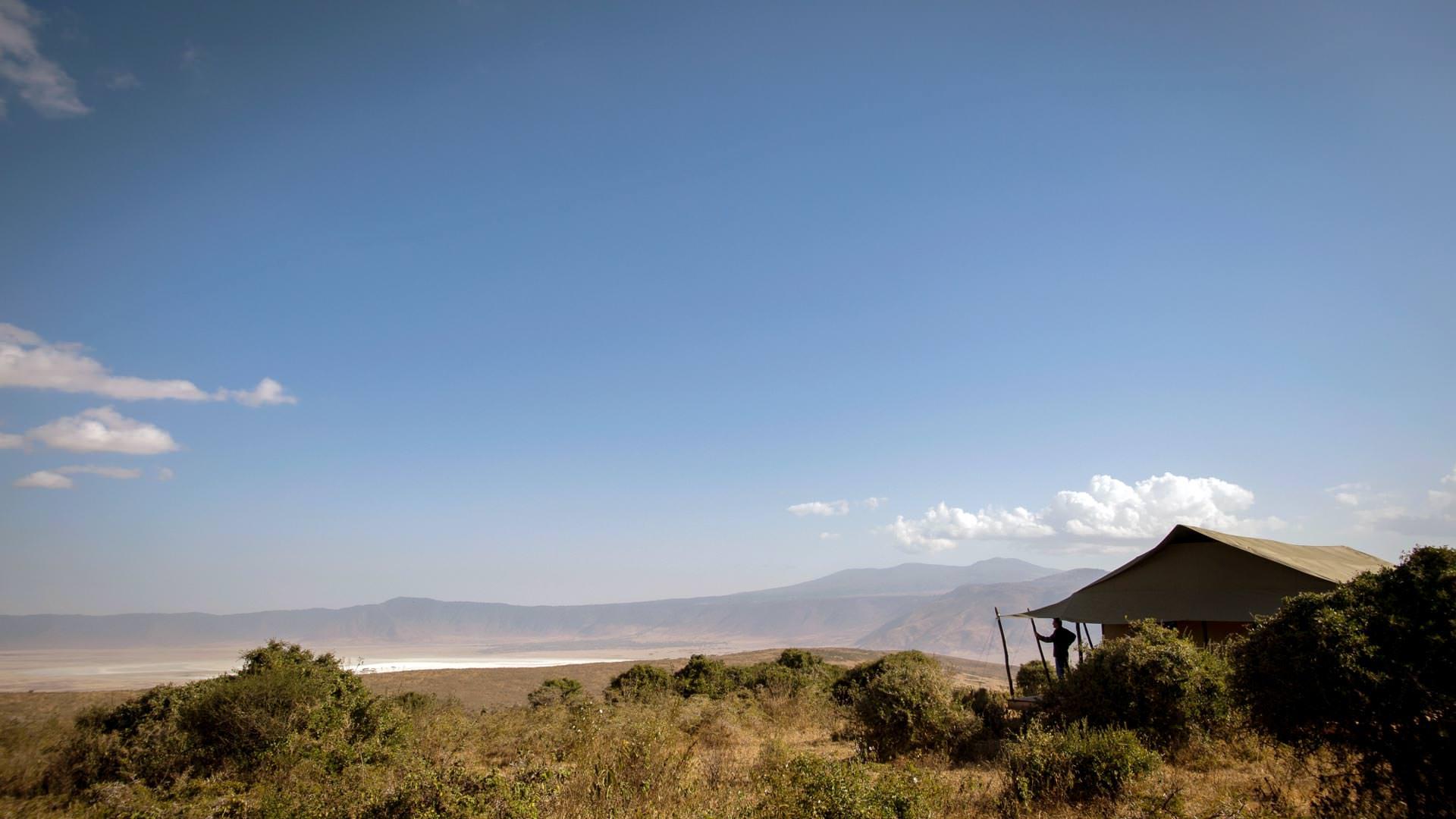 View into Ngorongoro Crater