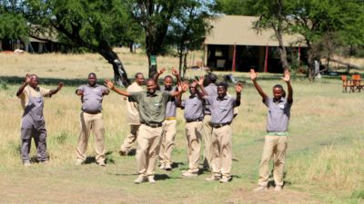 Camp staff waiving