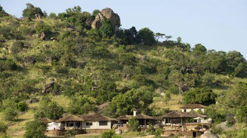 Setting on the hillside