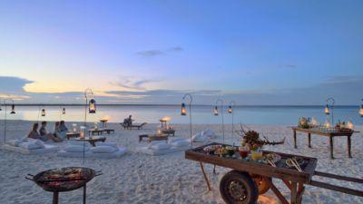 Mnemba sunset on the beach