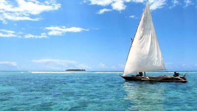 Traditional sailing boat