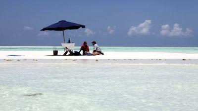 Sandbar picnic