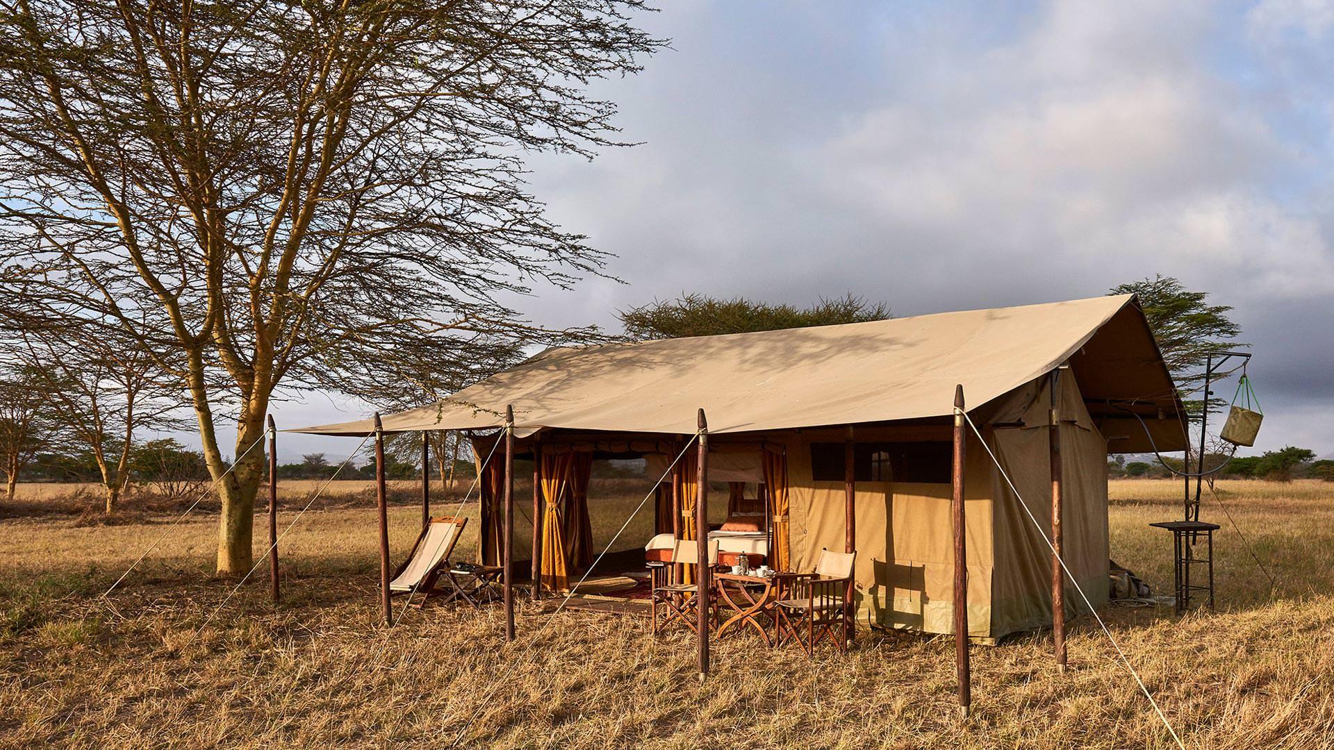 Guest tent at Legendary Serengeti Camp