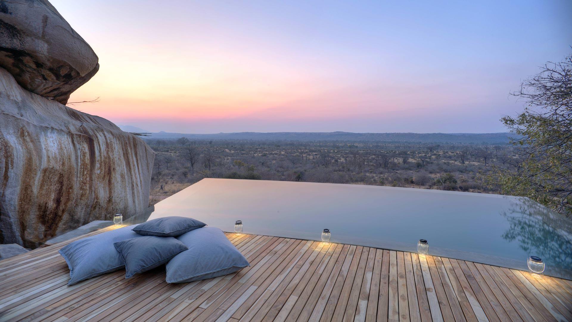 The pool at Jabali Ridge