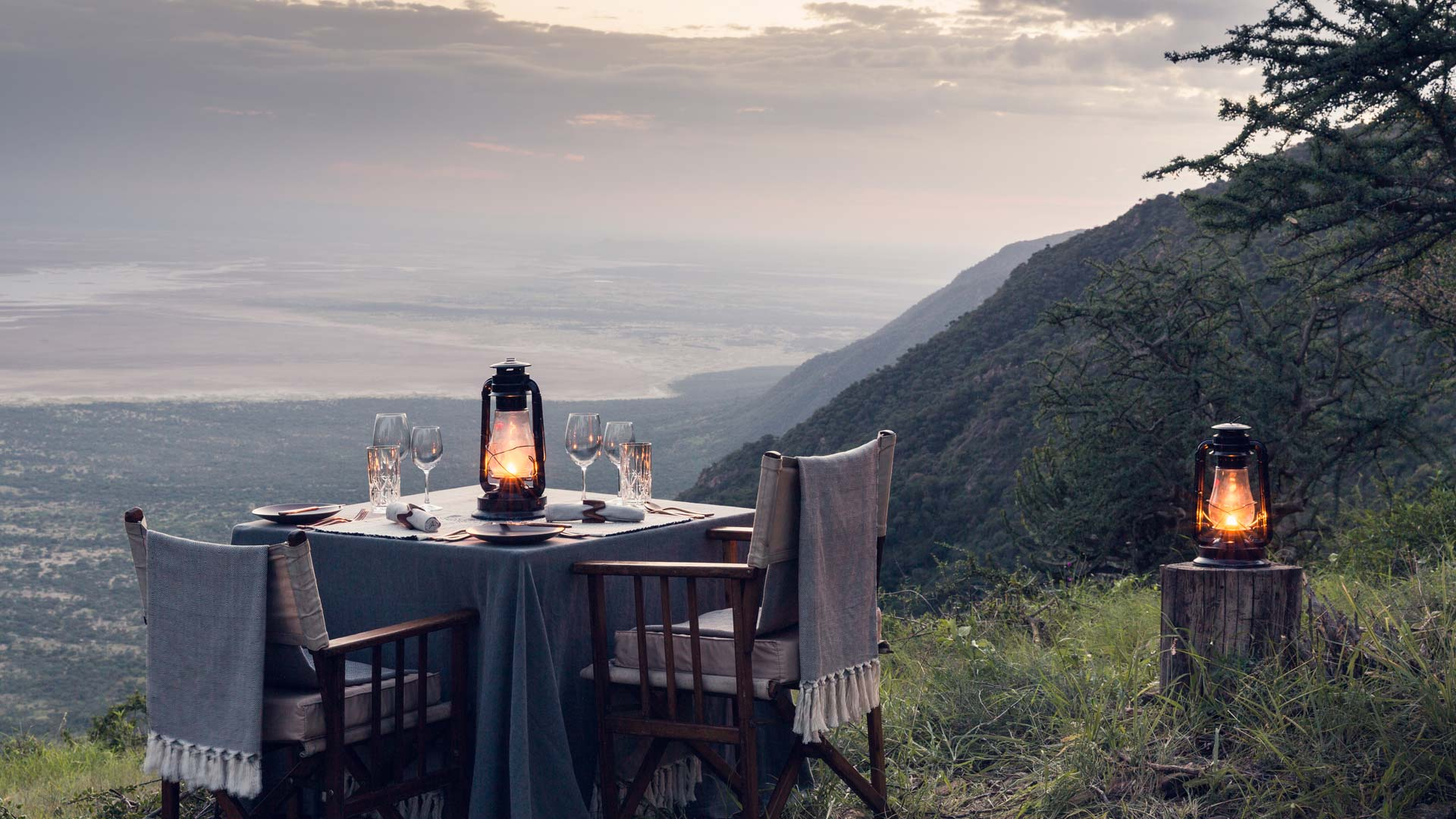 Dinner with view to Lake Eyasi