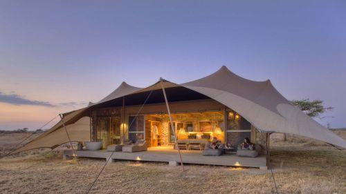 Namiri camp guest tent
