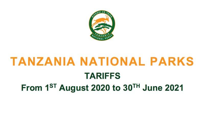 Tanzania Park Fees Download