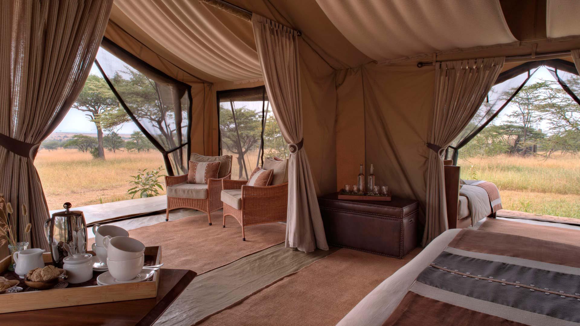 Tent interior and decor