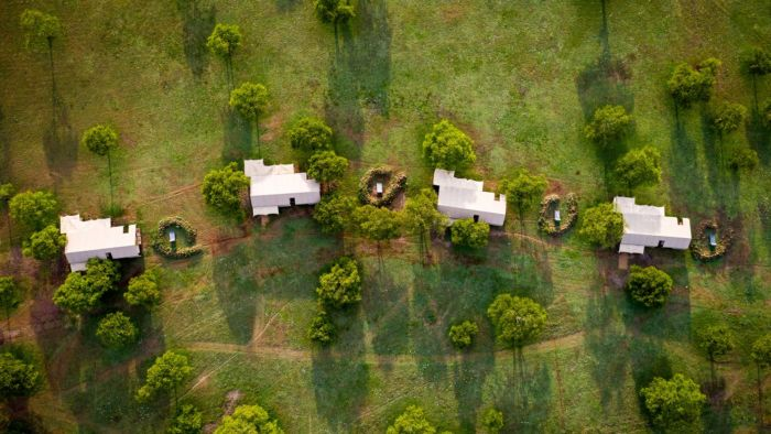 Sabora Camp from the air