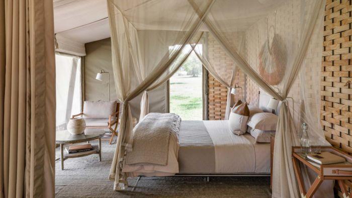 Bed at Singita Sabora