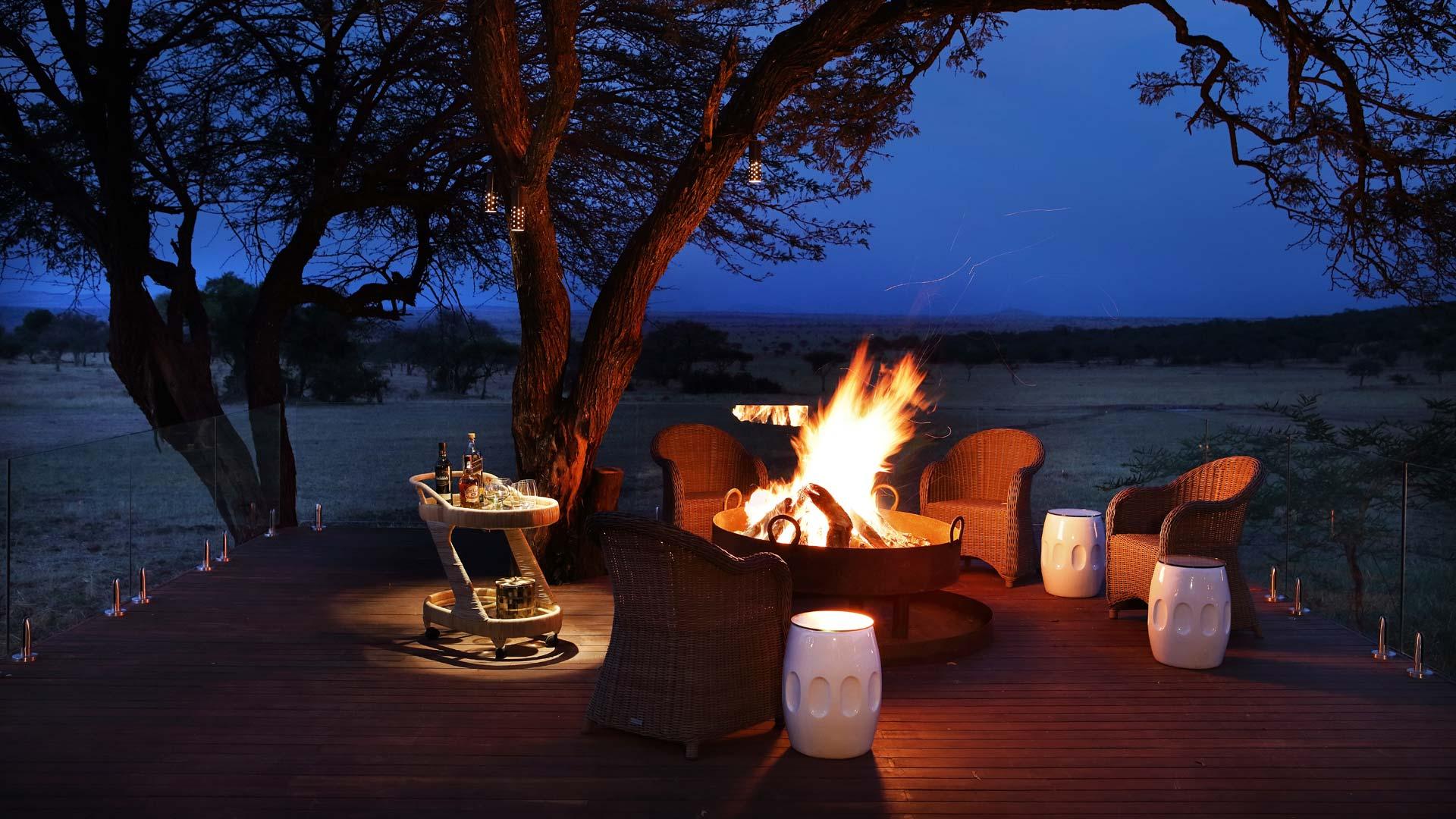 Fireside in Grumeti